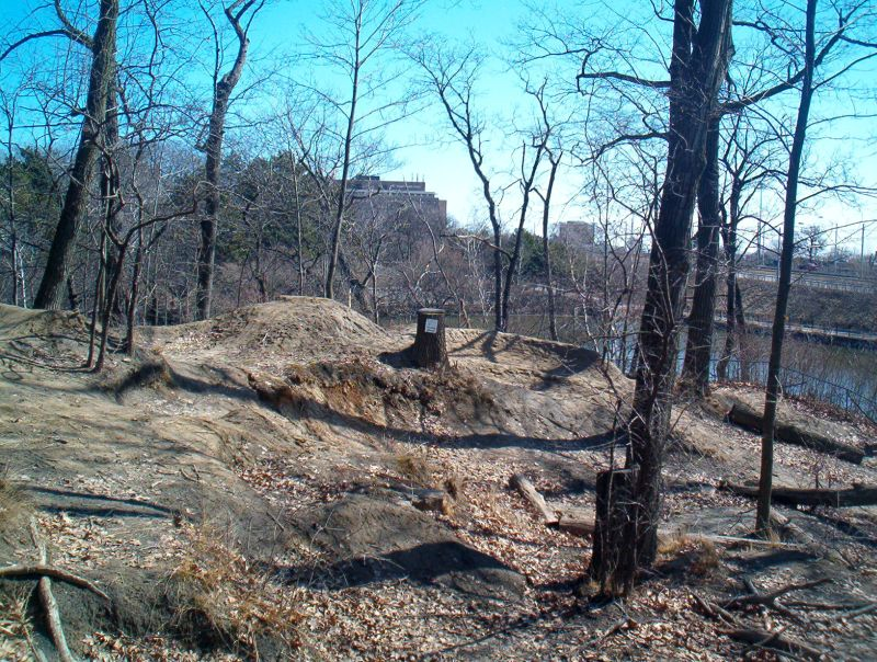 Snake Mound looking east March 19, 2011