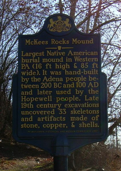 McKees Rock Mound Marker
