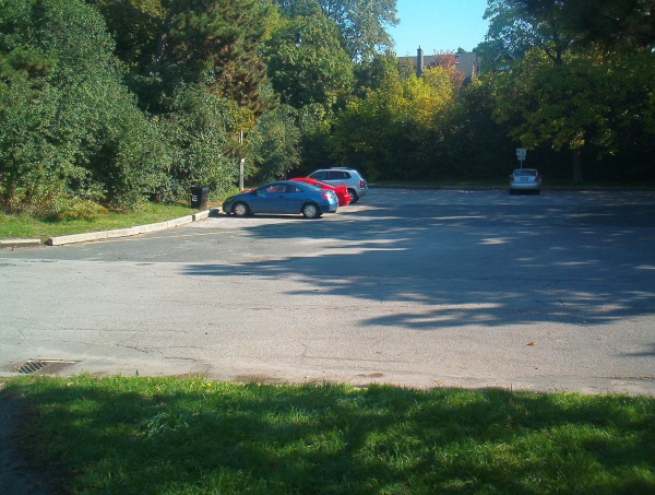 Spring Road Parking Lot 1100 am Oct 09, 2011b closeness to Owl Mound